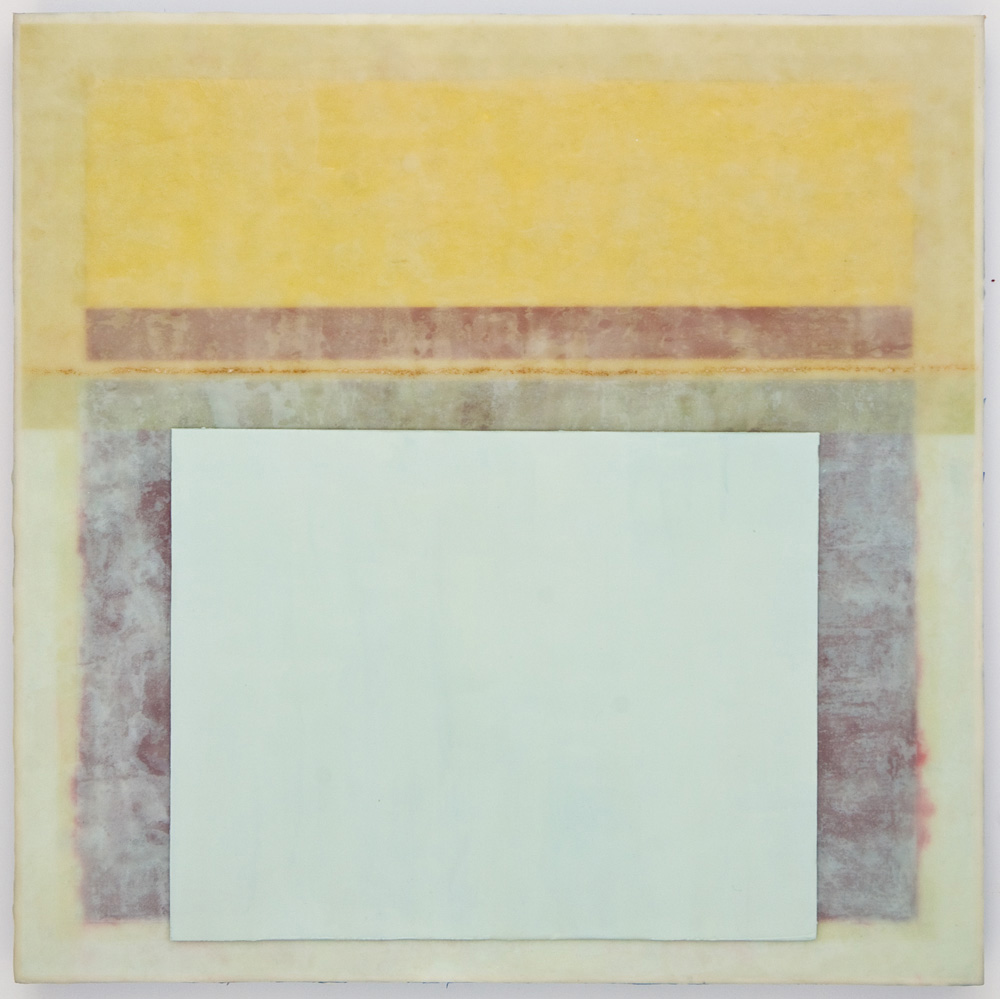 SANCTUM 5 - 20x20 - Wax, Paper, and Clay on Panel - 2011