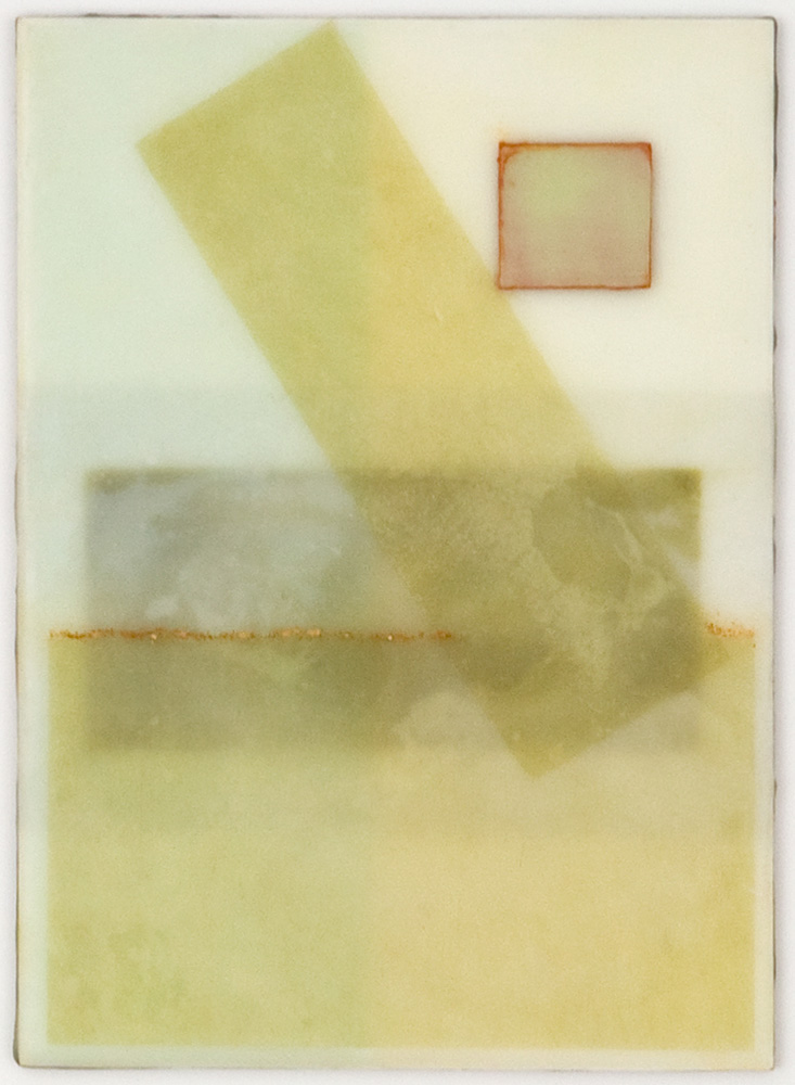 CONTINUUM 2 - 5x7 - Wax, Paper and Clay on Panel - 2011
