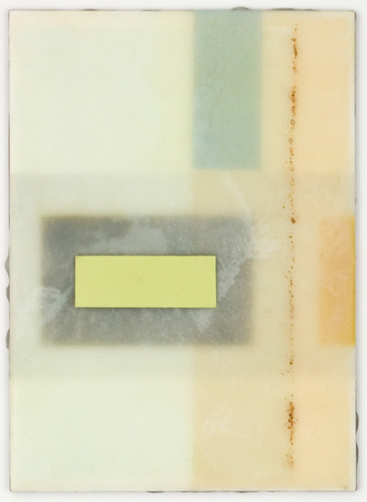 CONTINUUM 3 - 5x7 - Wax, Paper and Clay on Panel - 2011