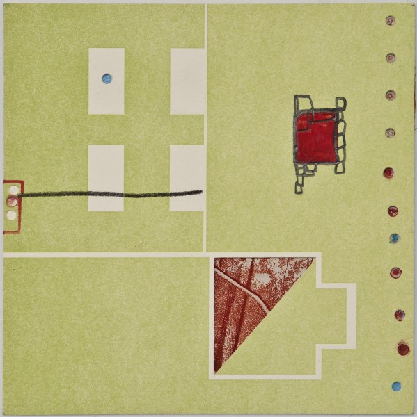 Map 17 - Letterpress and Mixed Media - 6x6 - 2013