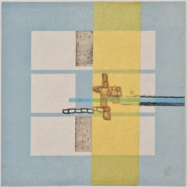 Map 19 - Letterpress and Mixed Media - 6x6 - 2013
