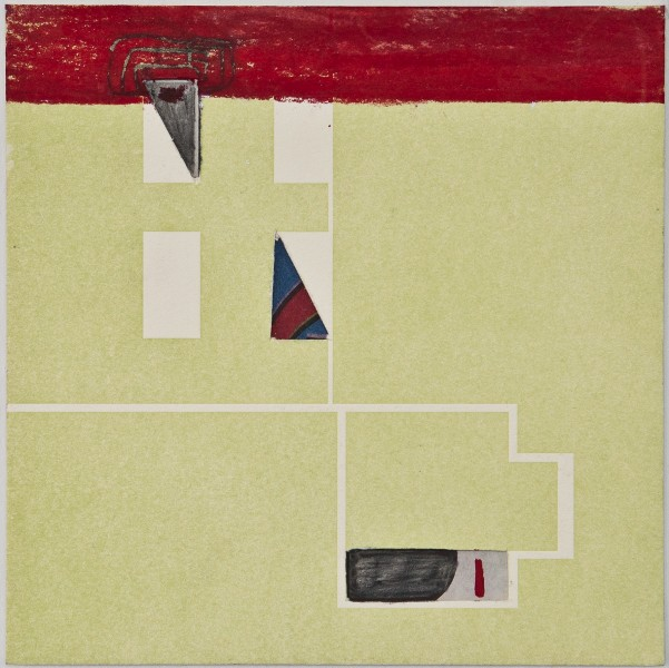 Map 23- Letterpress and Mixed Media - 6x6 - 2013