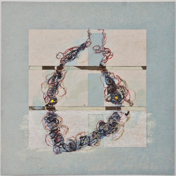 Map 35 - Letterpress and Mixed Media - 6x6 - 2013