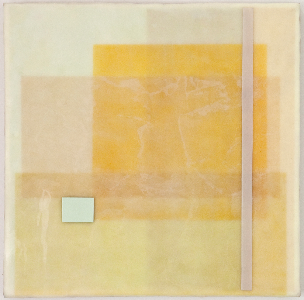 CONSTANT 5 - 12x12 - Wax, Paper, Pastel on Panel - 2011