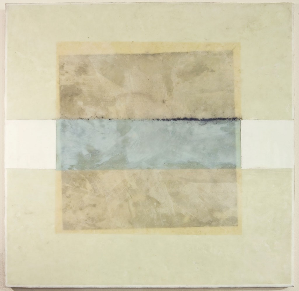 Untitled III - 20x20 - Wax, Paper and Chalk on Panel - 2010