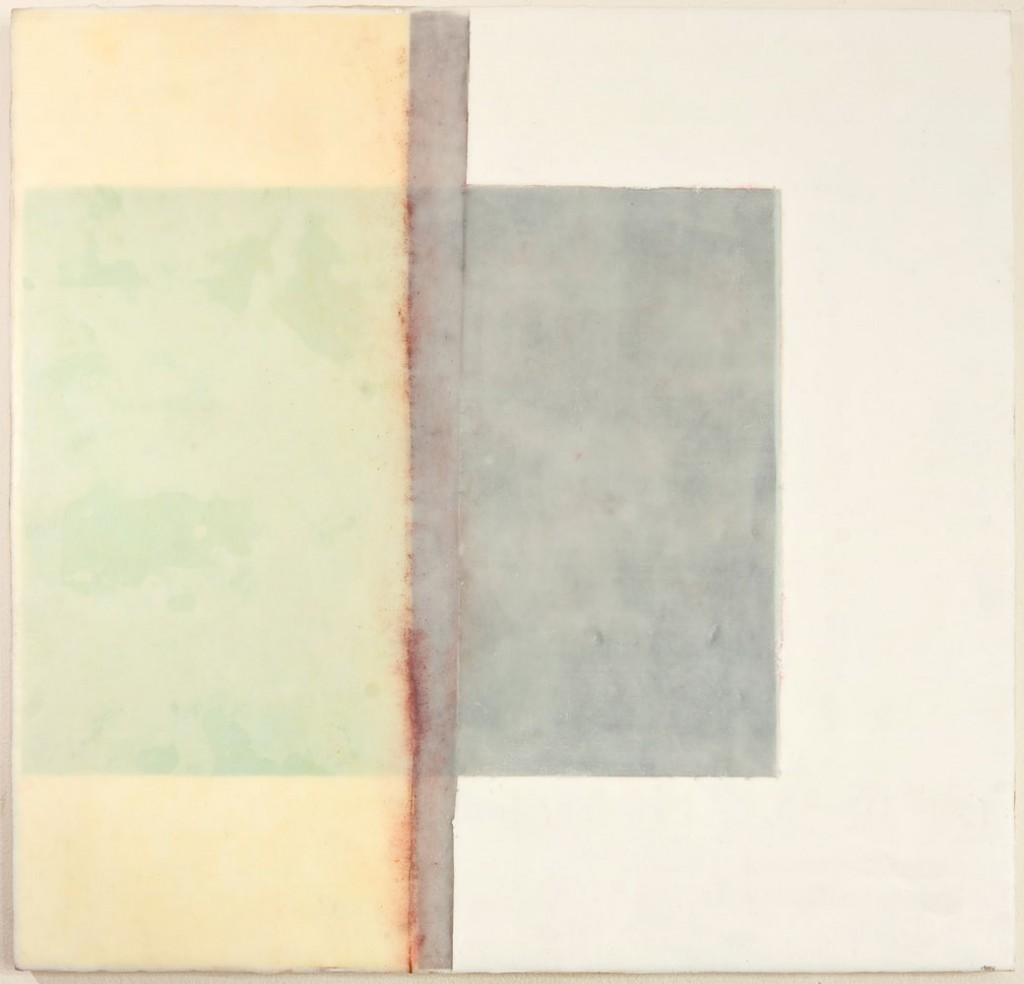 CONSTANT 2 - 20x20 - Wax, Paper and Chalk on Panel - 2010