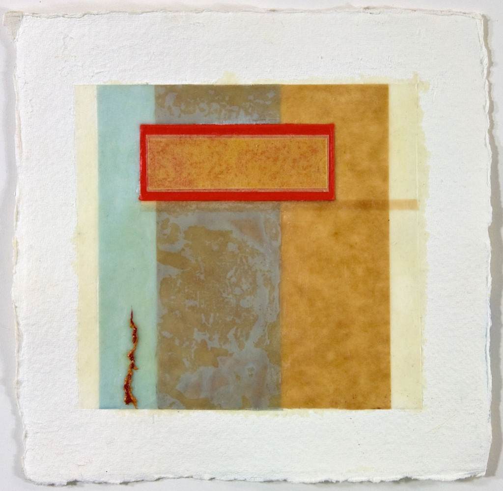 EPIPHYSIS 6 - 8x8 - Wax, Paper and Oil on Paper - 2010