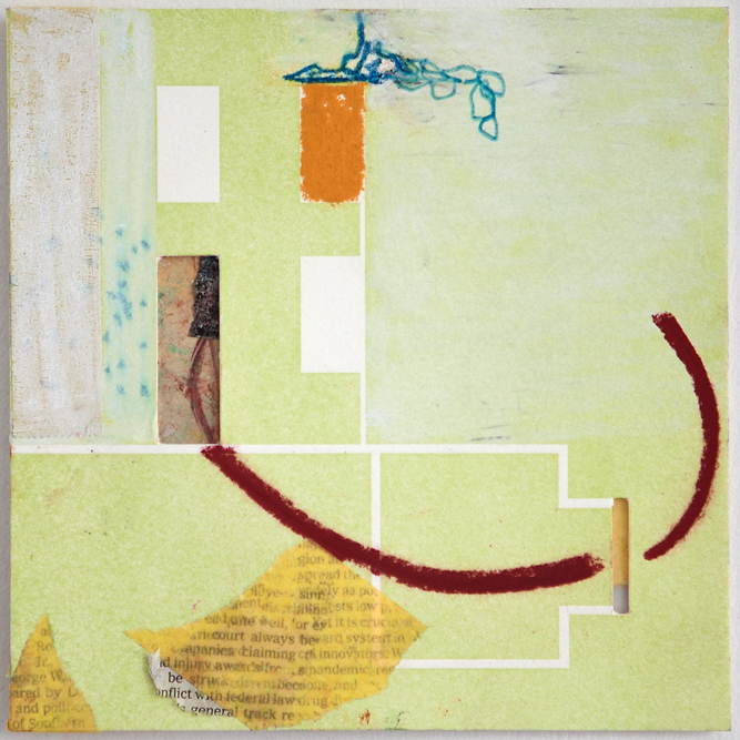 Map 5 - Letterpress and Mixed Media - 6x6 - 2013