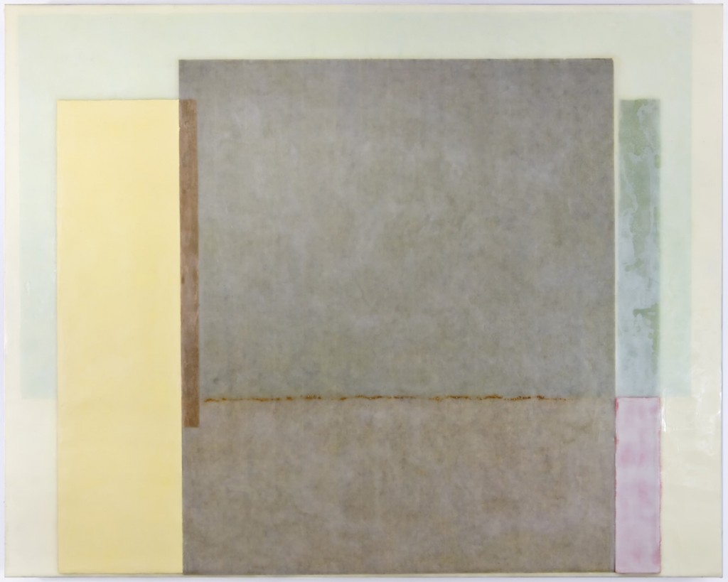 OMETEOTL 2 - 36x24 - Wax Paper and Clay on panel - 2010