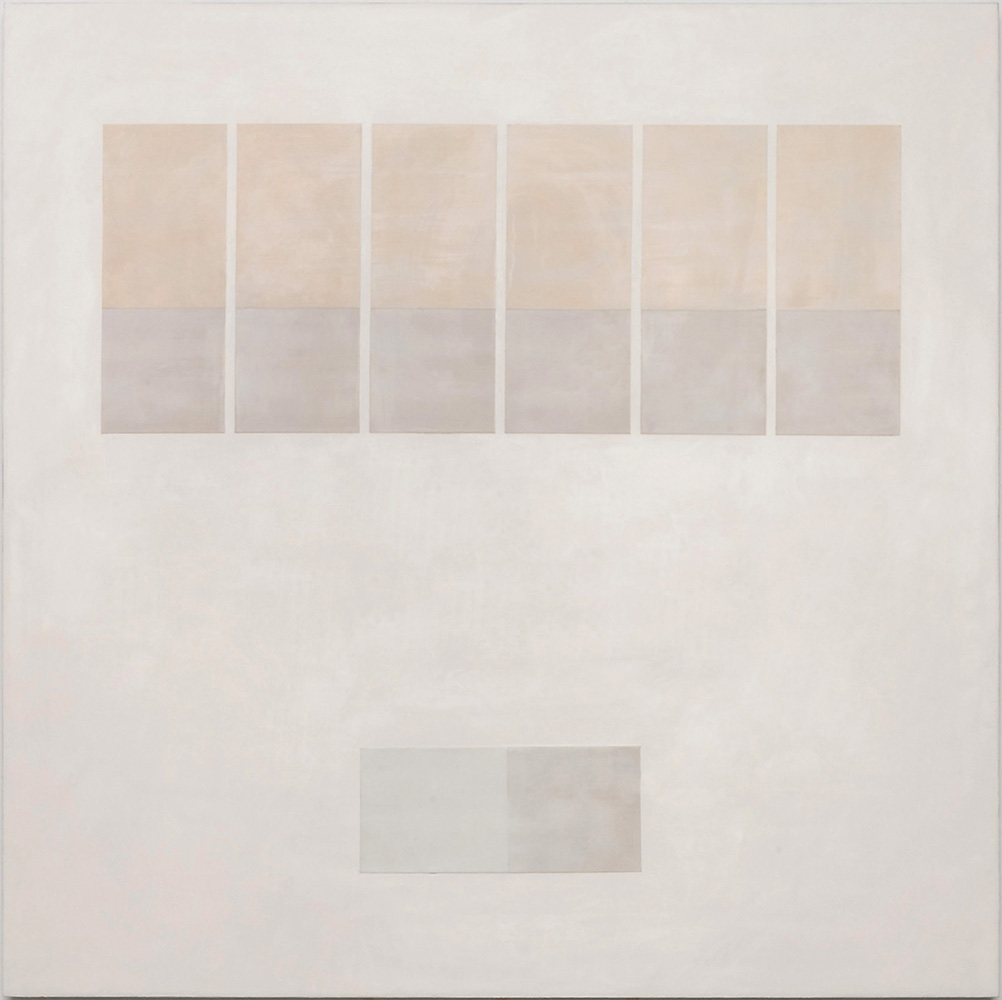 Krista Svalbonas - Transparency 1 - Wax and Pastel on Doorskin - 36x36 - 2012
