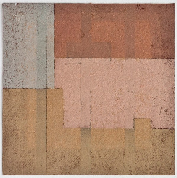 S8NC_03, mixed media on Khadi, 8 x 8, 2013