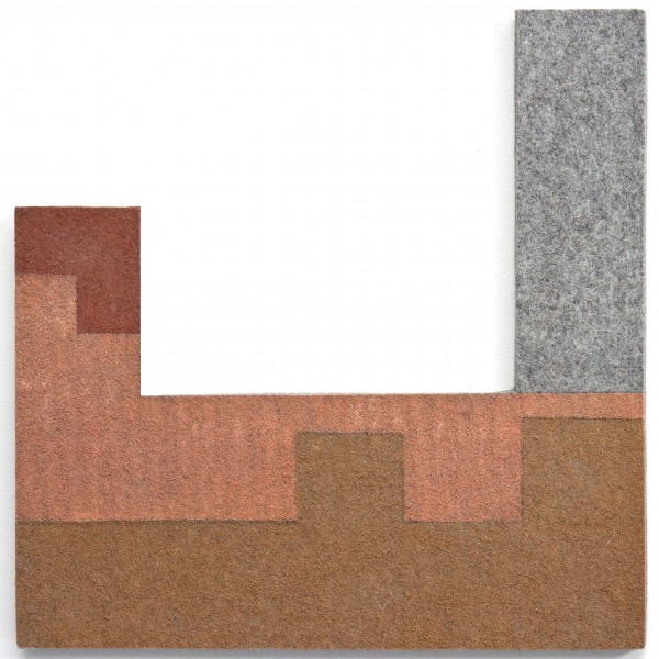 Brunswick_E_01, oil on industrial felt, 14 x 14, 2013