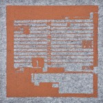 Krista Svalbonas - Spakenberg 1, copper photo-serigraph on felt , 9x9, 2013