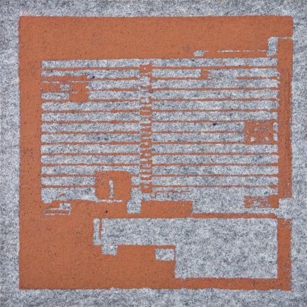 Krista Svalbonas - Spakenberg 1, copper photo-serigraph on felt , 9x9, 2013