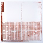Krista Svalbonas - Giessen 2, copper photo-serigraph on mylar , 22x22, 2013