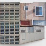 Migrator 2, UV print on dibond and wood, 11x12x4, 2016