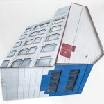 Migrator 3, UV print on dibond and wood, 20x21x5, 2016