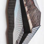 Migrator 4, UV print on dibond and wood, 22.5x15.5x5, 2016