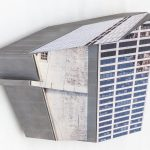 Migrator 7, UV print on dibond and wood, 7x9x4, 2016