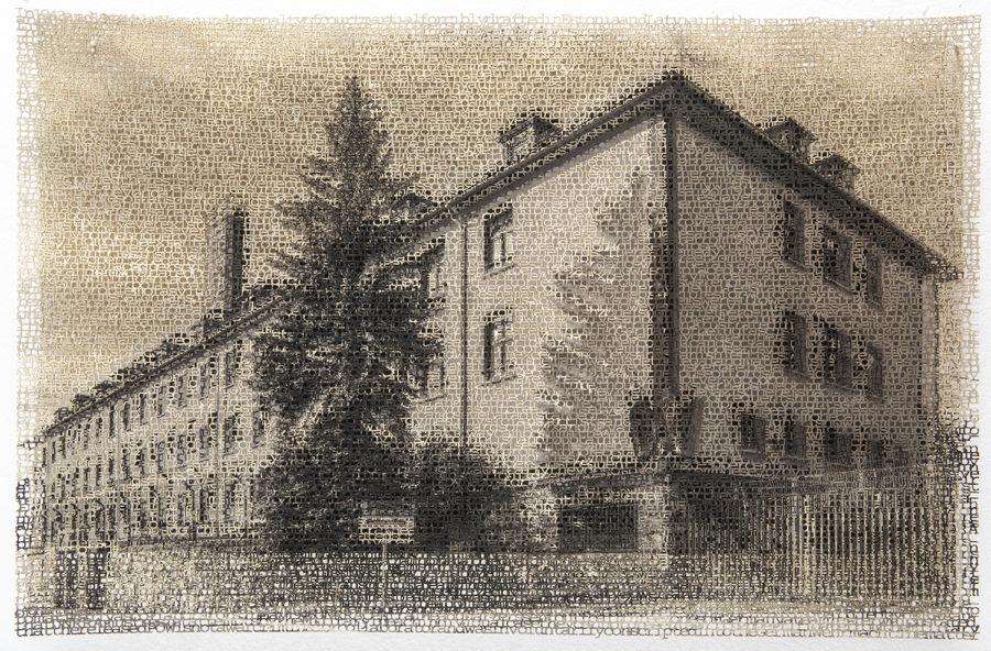 Wurzburg 2, layered laser cut pigment print, 14x21,2018